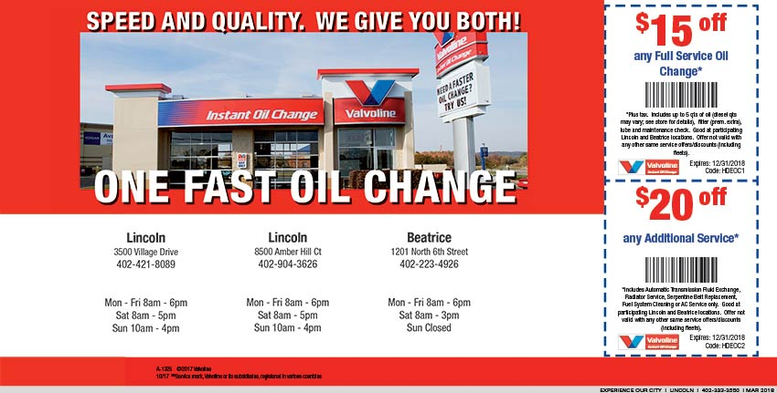 Valvoline Instant Oil Change | Experience Our City